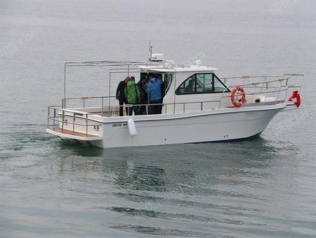 现货发船私人海钓艇专业玻璃钢钓鱼艇11米柴油船