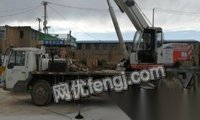 青海西宁转让07年底浦沅16吨吊车有手续,给废铁价高点就开走