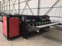 纸箱包装厂出售9成新苏州叠创的纸箱无版数码印刷机 ( 6喷头),2.5米