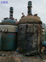 低价出售二手反应釜设备 化工厂设备 二手搪瓷反应釜