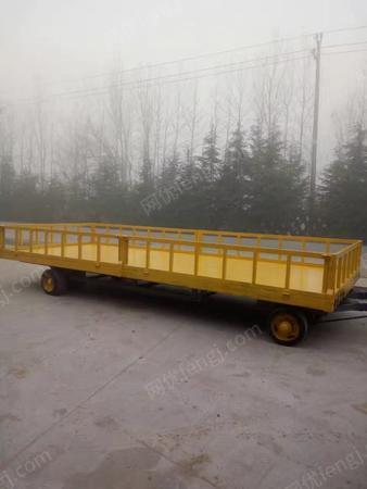 供应带雨棚平板拖车,带雨棚厂区周转车,防雨淋平板拖车