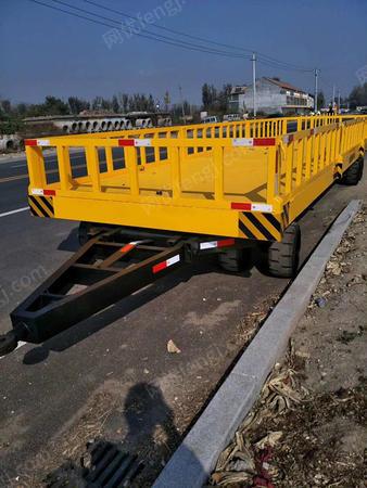 供应平板拖车图片,大载重平板拖车价格,带护栏平板拖车