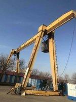 出售二手10吨跨度大驱动龙门吊一套,1.8米强磁吸盘