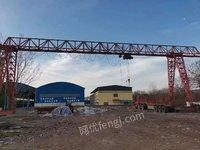出售二手10吨跨度24.8+5米腿子9米大驱动龙门吊一台