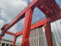 浙江杭州出售1台二手双梁龙门吊50+20吨跨度22.5米