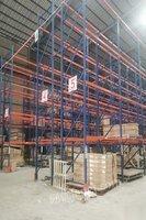 福建福州二手1吨承重货架600组现场按吨出售1.5米宽高位货架横梁式货架