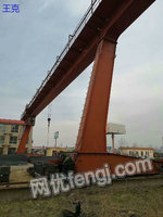 Selling bride crane second-hand single-girder bridge craneShandong Tai an which its weight of 10 tons each inner spans of 9 meters