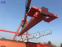 Selling second-hand 10 tons 12 meters indoor gantry crane come with 5.75 meters supportShandong Tai an