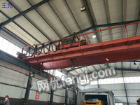Selling 1 second-hand QD double-girder crane 32/10 tons which its span is 17.5 metersShandong Taian