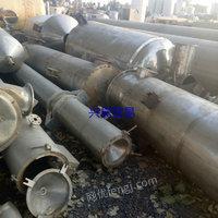 转让15吨二手钛材蒸发器  各种型号钛材单效蒸发器