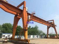 上海宝山区出售2台二手双主梁龙门吊10T跨度30米