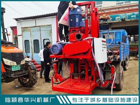 供应临颍华兴轻卡车改装5寸正反循环钻机