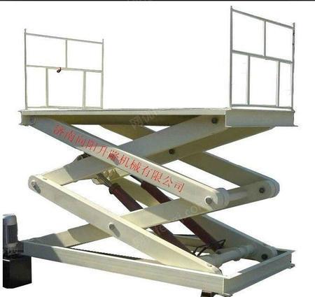 供应潍坊固定剪叉式升降机固定小型液压装卸台上车台