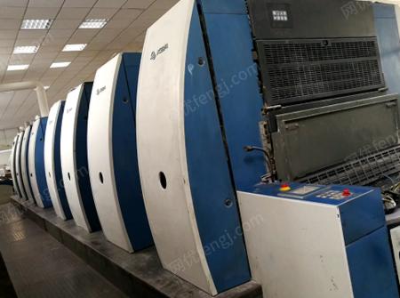 紙制廠處理08年高寶8色印刷機,1.1米全自動水性覆膜機,三面刀各1臺(詳見圖)