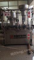 山东烟台出售二手自动冲瓶机,自动压盖机等压灌装机