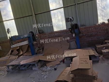 包裝廠出售雙色鏈條印刷機帶開槽模切1臺.1.4m/1.2m釘箱機2臺