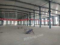 北京順義區出售舊鋼結構廠房71米寬,100米長,9.5米高行車房