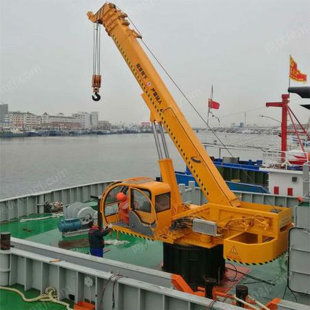 供应10吨船用起重机 10吨船吊报价 外形美观