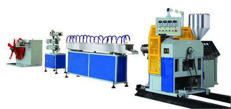 供应PVC塑料软管挤出生产线技术工艺PVC钢丝纤维增强软管设备