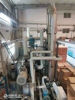 出售新订中试MVR蒸发器两套 蒸发量40kg,蒸发量120kg材质:接触物料为 钛 2205电控: 西门子变频