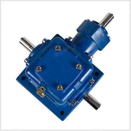 供应T系列螺旋锥齿轮转向箱定制,90度十字螺旋伞齿轮转向器换向器