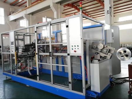 供应PE管材收卷机PERT管全自动卷取机双工位盘管机设备