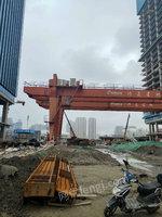 浙江杭州二手ME16+16吨双主梁龙门吊跨34.5米,各悬7米出售