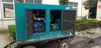 山东济南75千瓦移动静音发电机组 20年2月出厂低价出售,,,