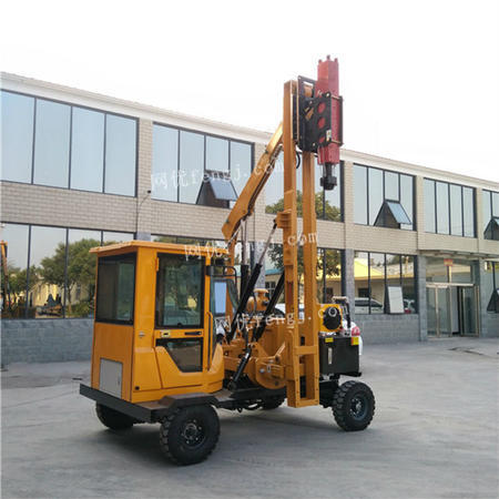 供应款高速路护栏打桩机 液压护栏打桩机价格  支持定制