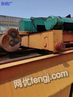 河南新乡出售二手双葫芦桥式起重机10吨跨度22.3米