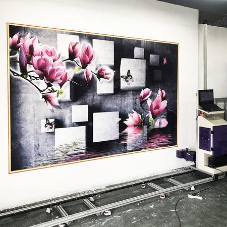 墙面3D图案喷绘设备智能室内瓷砖背景墙油墨画自动绘画机供应