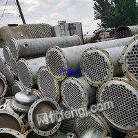 专售二手不锈钢冷凝器 钛材质列管冷凝器 出售二手不锈钢螺旋板冷却器