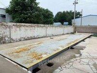 河南濮阳客户短期工程项目结束,  宽3米长14米加强型二手地磅出售