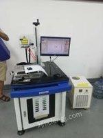 广东深圳二手紫外3wu塑料电源适配器打标机 玻璃陶瓷镭雕出售