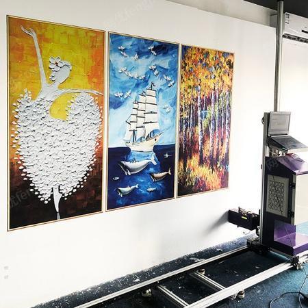 供应墙画喷绘机墙体户外广告画打印机设备装饰画打印机墙面喷绘打印机