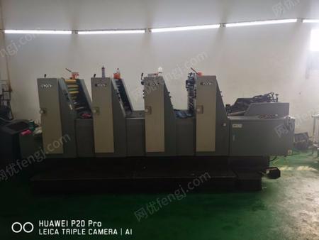 印刷厂出售10年冠华564印刷机1台,瑞安56裁纸机,裁圆角,光固机1套