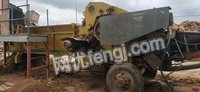 山东济宁出售二手500型移动式飞刀综合破碎机一套
