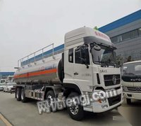 新疆克拉玛依27方天龙前四后八铝合金油罐车出售