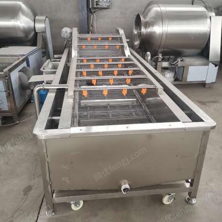 厂家定制气泡清洗机 果蔬食品水浴式清洗机