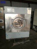 天津河西区出售二手洗涤设备100公斤海狮洗脱机海狮烘干机百.强折叠机