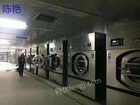 内蒙锡林郭勒转100公斤海狮洗脱机烘干机二手水洗厂设备四棍烫平机