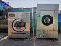河北保定售二手水洗厂设备100公斤、50公斤洗脱机蒸汽加热烘干机折叠机