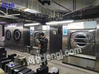 陕西宝鸡转各种品牌100公斤洗脱机二手水洗厂设备五棍烫平机二手折叠机