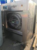 北京周边转二手海狮00公斤洗脱机2台海狮100公斤烘干机双棍烫平机二手洗涤设备