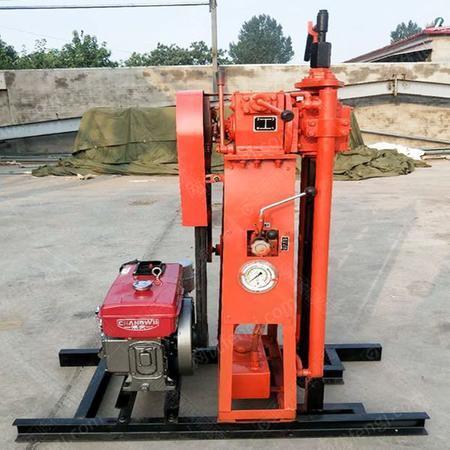 供应现货小型取样钻机 50米轻便取芯岩心钻机 液压地质勘探设备