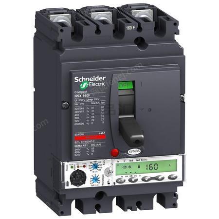 供应施耐德塑壳断路器NSX160F TM160D 3P3D (3P)