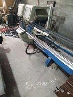 山东济南急卖二手断桥铝门窗设备,二手金刚网门窗设备,二手铝