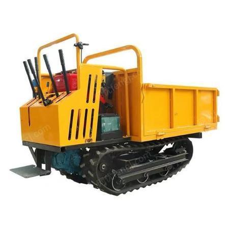 供应小型履带运输车现货 1吨手扶式升降运输车 液压自卸式履带运输车
