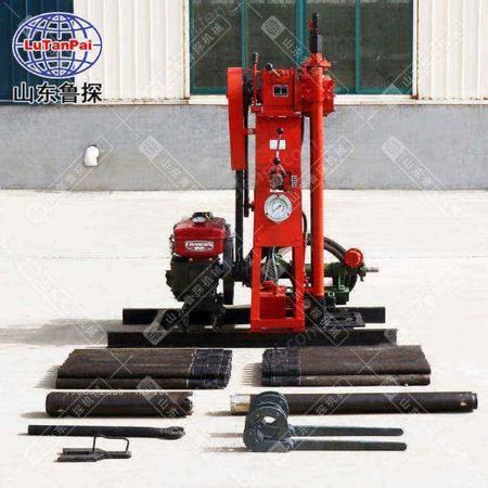 鲁探50型柴油机动力液压岩芯取样钻机小型轻便勘探设备出售
