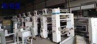 出售二手印刷设备800五色德光凹版印刷机 彩印机